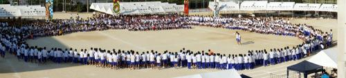 全校生徒による最後のブロック集会